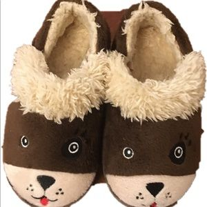 Other - Baby brown & soft puppy slippers size 7/8
